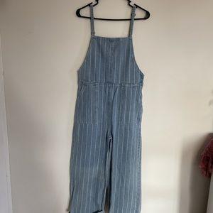 rvca stripped overalls